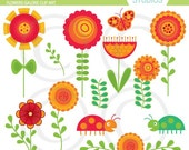 Flowers Galore Art Set - Digital Elements Commercial use for Cards, Stationery and Paper Crafts and Products