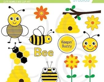 Bumble Bee Elements Art Set