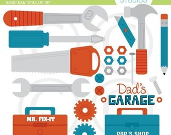 Handy Man Tools Art Set - Clip Art Set
