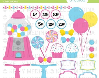 Candy Shoppe - Clip Art Set - Digital Elements Commercial use for Cards, Stationery and Paper Crafts and Products