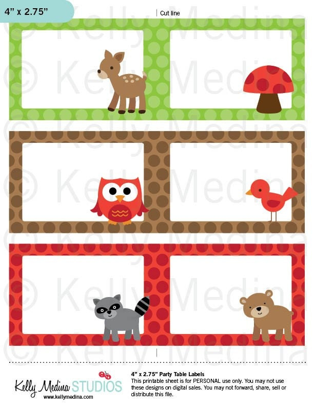 Woodland Animals Printable Labels Personal By
