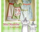 The Handmade Dress Pattern  Miss Madeline by Samantha Caffee size 6mo-4yrs