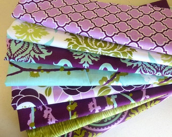 Aviary 2 Lilac Scraps-- Scrap Bag Quilt Fabric by Joel Dewberry