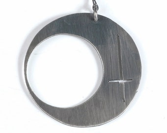 Crescent Moon Earring with inverted cross