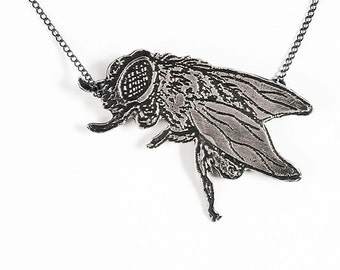 Sterling Beelzebub- Lord of the Flies Necklace