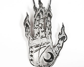 Sterling Hand of Glory Necklace