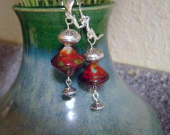 Red Pagoda Earrings
