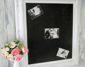 "FRAMED CHALK BOARD Magnetic Chalkboard Signs Decorations Wedding Decor -AnY CoLOR- New Home Gifts Chalk board 31""x27"" Shabby Chic Wedding"