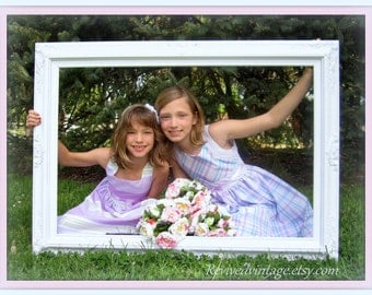 photo booth frames for sale extra large huge wedding portrait frame photo booth prop baroque frame fits 36x24 white gold decorative ornate