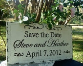 Save the Date Wedding Sign  24 x 12