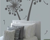 Contemporary Dandelion - Extra Large vinyl wall decals