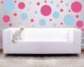 Private Listing for Leta 20 Large Polka Dots vinyl wall decals to go with previous order of 40