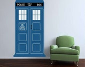 Large TARDIS Vinyl Wall Decal Free Shipping In the US