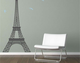 Large Eiffel Tower Vinyl Wall Decal