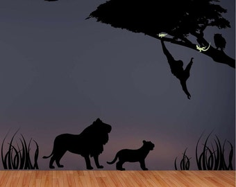 Safari Silhouette Vinyl Wall Decal
