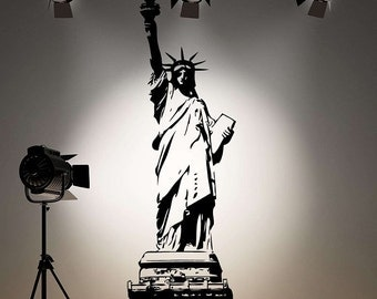Large 63 inch Statue of Liberty Vinyl Wall Decal