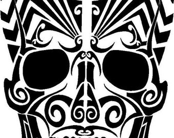 Large Skull Vinyl Wall Decal Sale