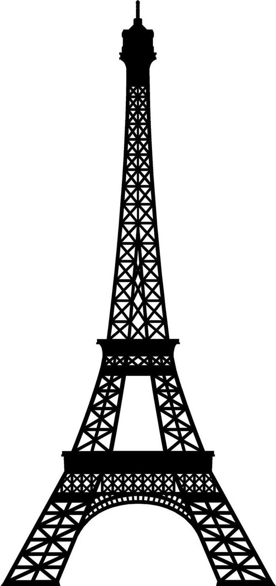 Extra Large Eiffel Tower Vinyl Wall Decal By Vinyltastic