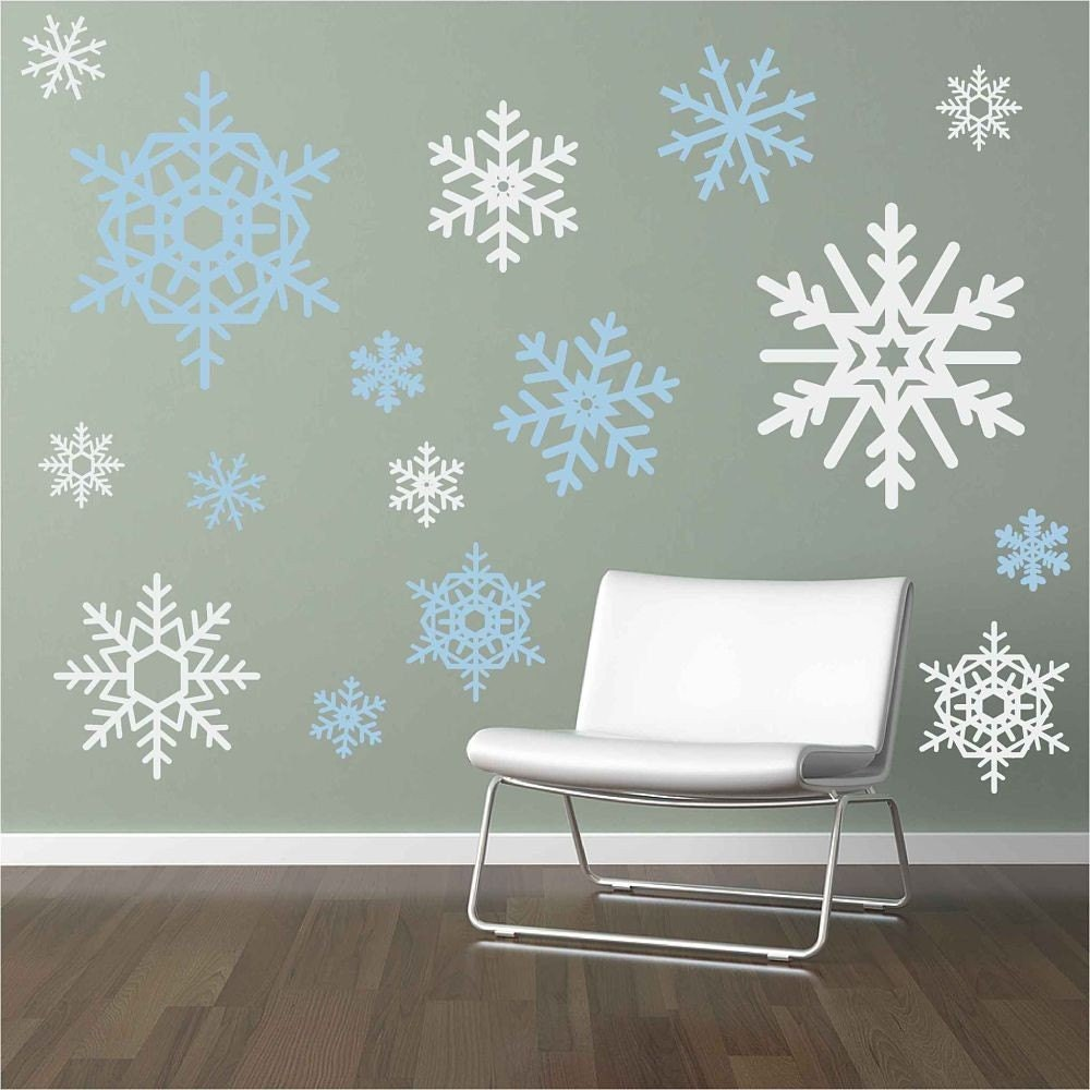 Snowflake wall decals wall stickers snowflakes for Christmas wall mural plastic