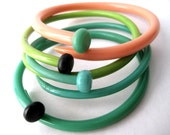 Recycled Knitting Needle Bracelets '50s Caravan SMALL