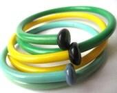 Statement Jewelry Vintage knitting needle bracelets Lemon Grass X LARGE