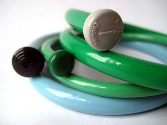 Vintage Knitting Needle Bracelets Turquoise Sky MEDIUM