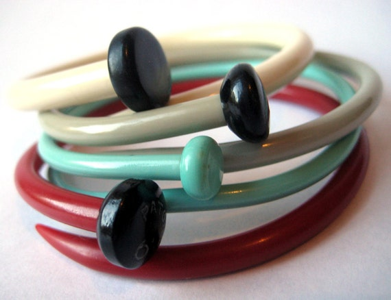 Recycled Knitting Needle Bracelets Cherry Blossom SMALL