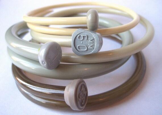 Recycled Knitting Needle Bracelets Natural Large