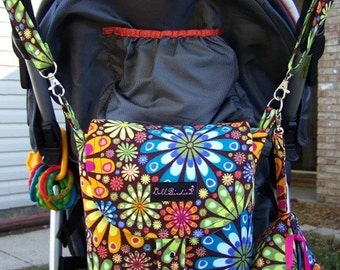 Diaper  Stroller Mini Bag with Matching Paci Pod and Changing Pad