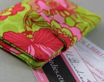 Mini Buisness/Credit/Debit/CallingCard/GiftCard Wallet Case With Double Pockets and Snap Closure
