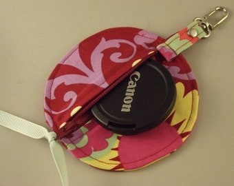 Add a Matching Dollbirdies Circular Pouch for Lens Caps, Ear Buds, IPod Shuffle, Coins, Etc to your Camera Bag Order
