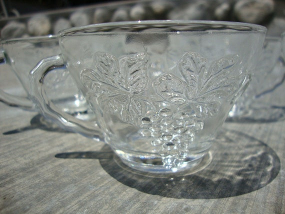 4pc Vintage Punch Glass Cups