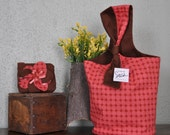 RESERVED for BUBBLEGIRLKNITS Reversible SimpleSac (ModBrick) with Coin Purse