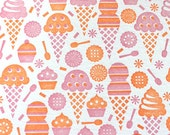 Sweet Ice Cream - Letterpress Postcard