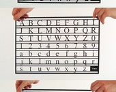 All 3 x Typography Series - Helvetica - Times - American Typewriter
