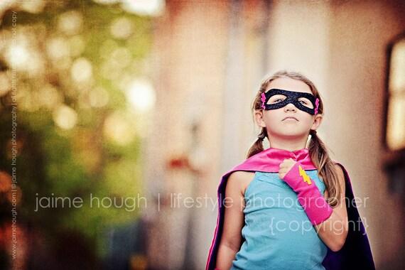 Kids Superhero Power Cuffs - fingerless gloves - superhero accessory - halloween costume accessory - hero arm bands - ready to ship