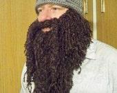 Valentine Day Celebration - FREE SHIPPING - COMBINATION - Viking Hat & Crocheted Full length Beard