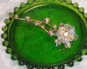Crystal Floral Brooch