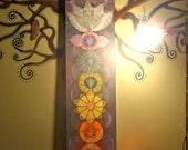 bodhi CHAKRAS painting yoga art reiki energy YOGA PAINTING spiritual painting framed painting prana