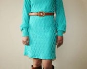 Vintage 1970s Green Geo Mini Dress - Hey Sailor Vintage