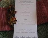 Simple and Modern Graphic Wedding Menu - Design & Printing