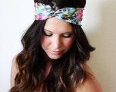 Bright Summer Floral - Turban Style Headband