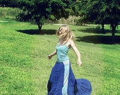 Long and Flowy Blue  Fairy Skirt