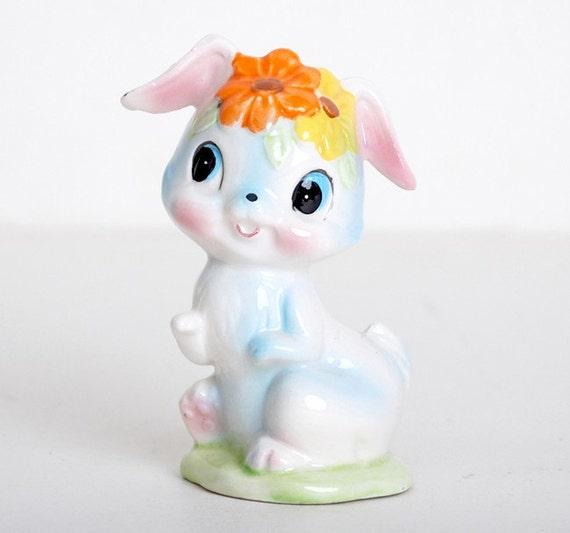 Vintage 60s Ceramic Easter Bunny Rabbit By Twinheartsvintage