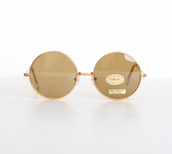 Vintage 60s Round Gold Janis Joplin Sunglasses