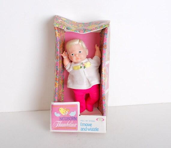 Vintage 60s Ideal Newborn Thumbelina Doll Mib