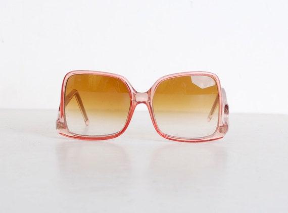 Vintage 70s Pink Oversized Sunglasses Shades