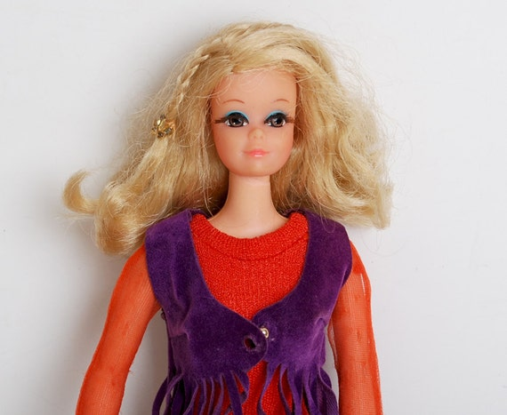 Vintage 70s Live Action PJ Barbie Doll
