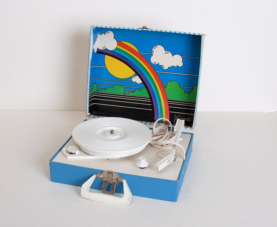 Vintage 60s 70s Children S Rainbow Record Player