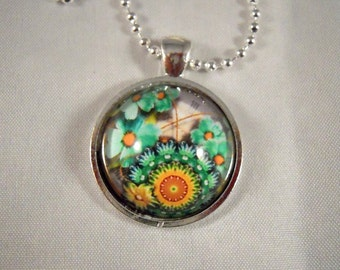 Victorian Flower Design High Dome Pendant - FAST SHIPPING